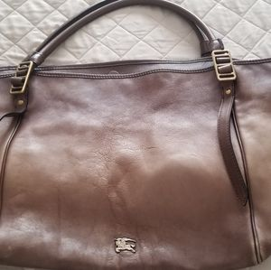 Burberry large authentic ombre leather tote